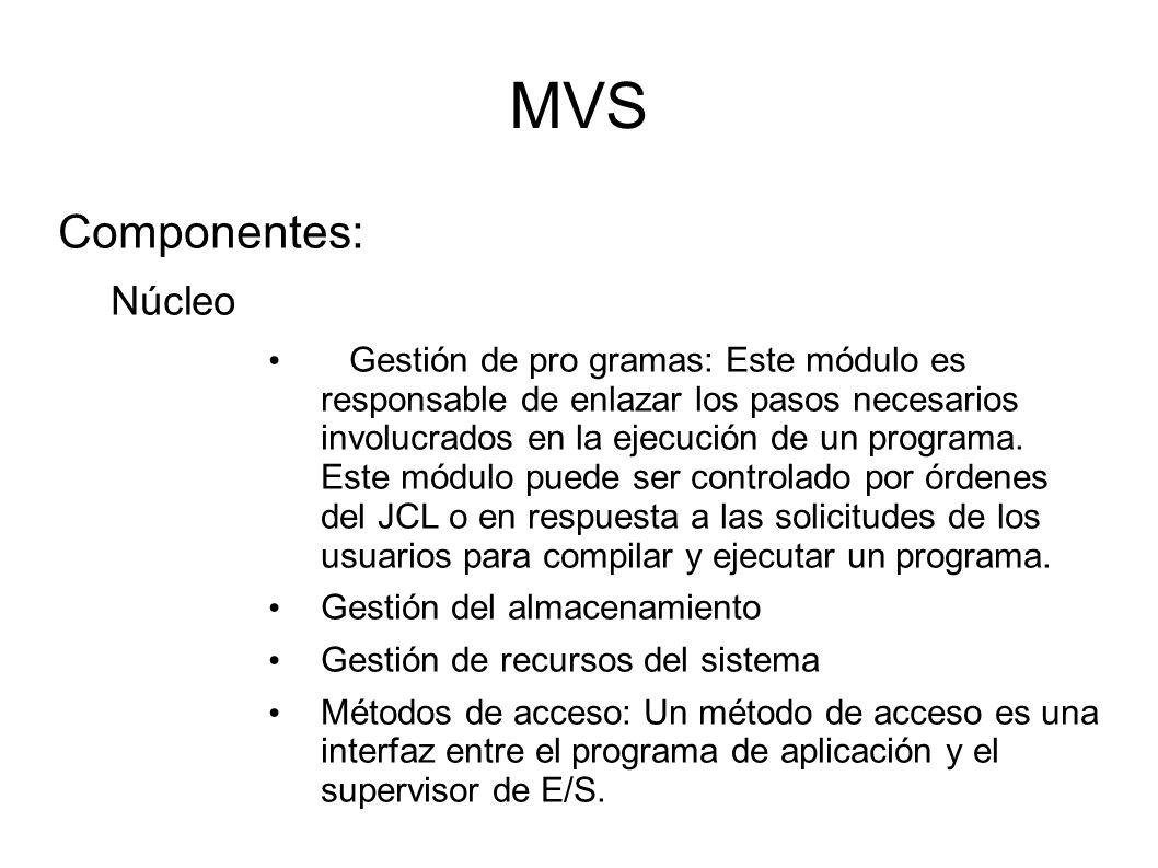 MVS Componentes: Núcleo