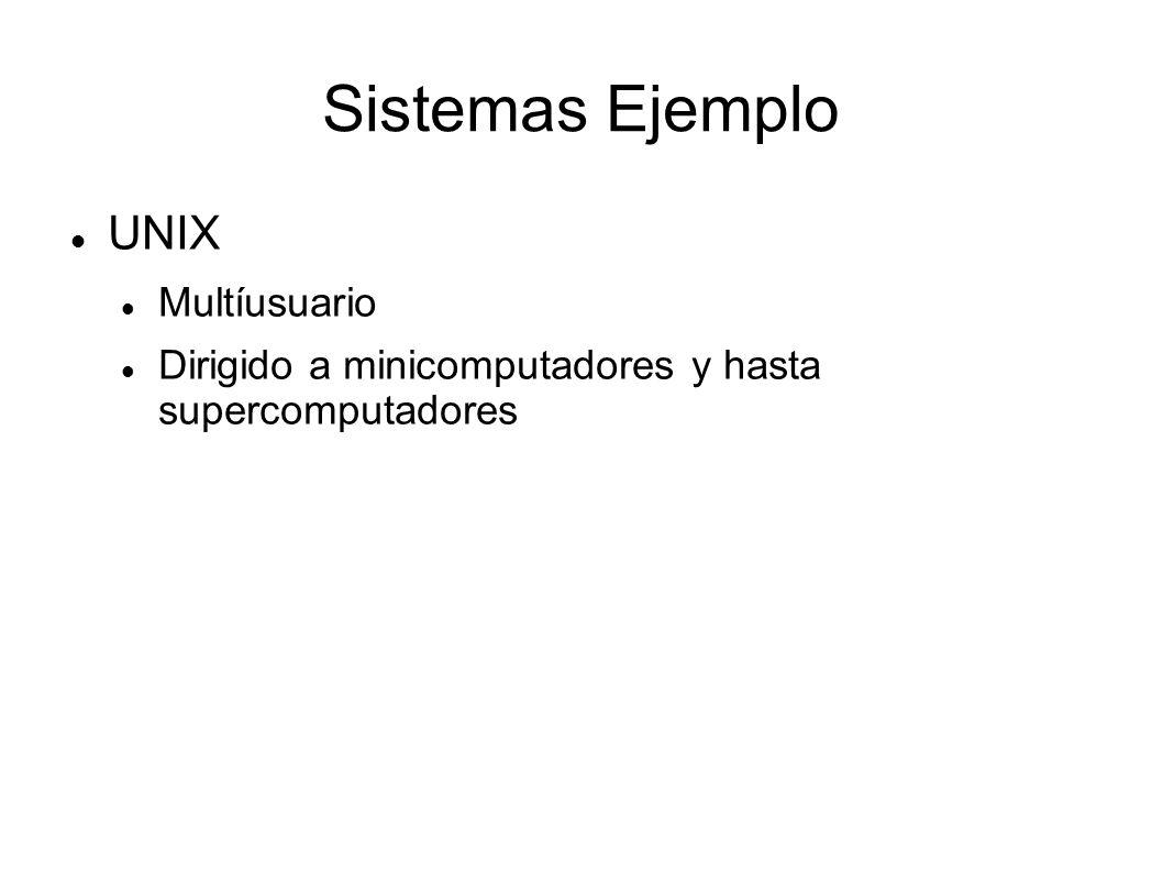 Sistemas Ejemplo UNIX Multíusuario