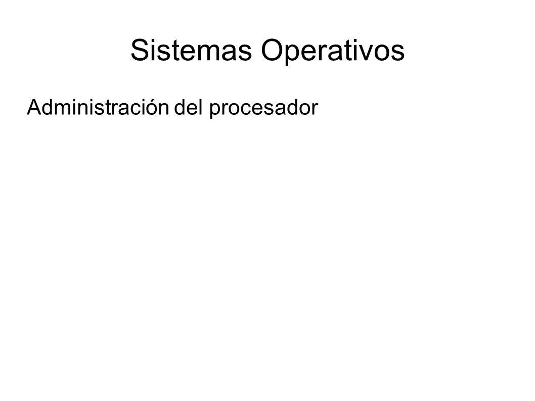 Sistemas Operativos Administración del procesador
