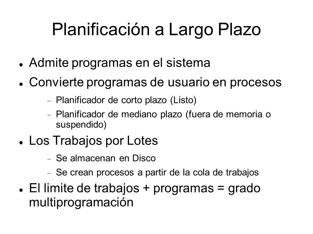 Planificación a Largo Plazo