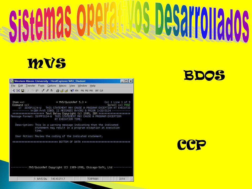 Sistemas Operativos Desarrollados