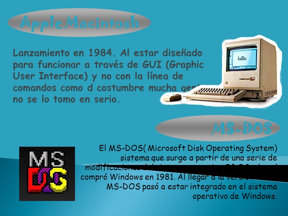 Apple Macintosh MS-DOS