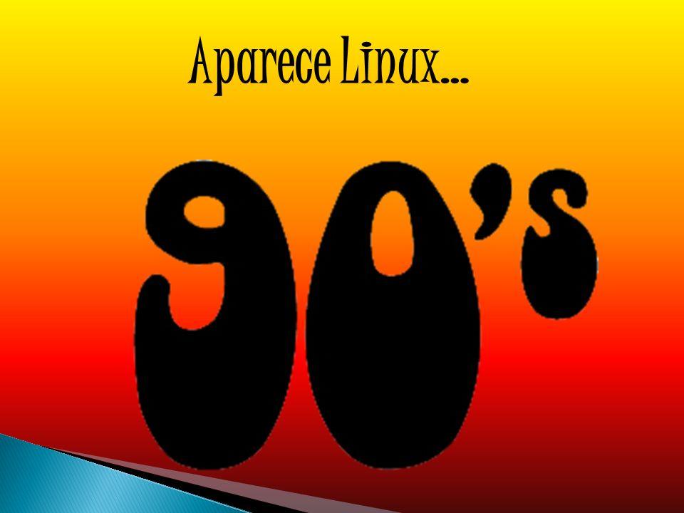 Aparece Linux…