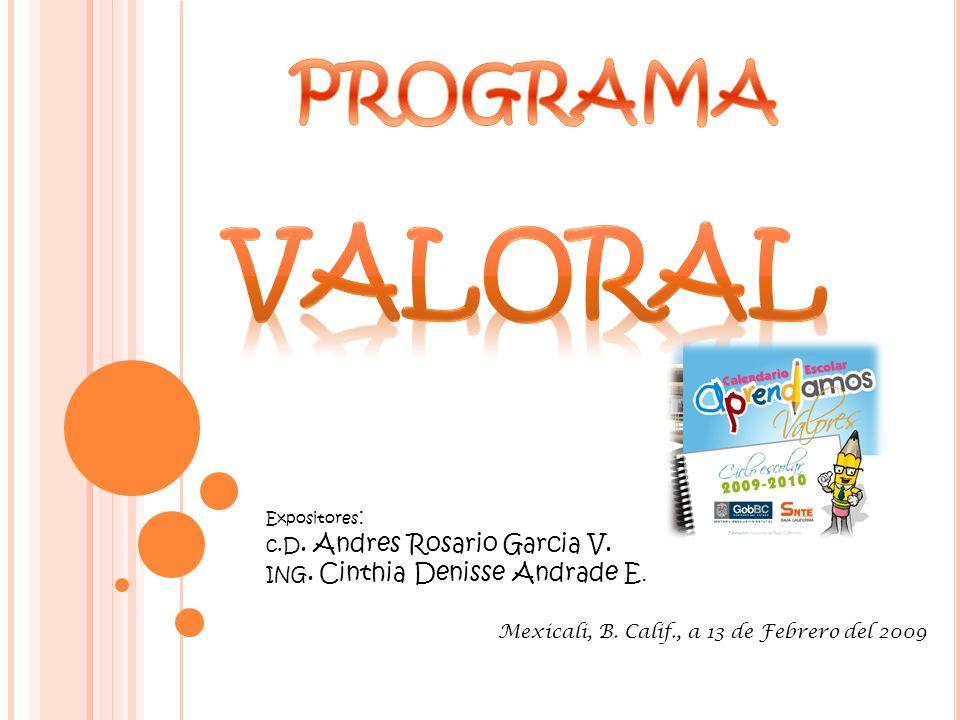 valoral PROGRAMA c.D. Andres Rosario Garcia V.