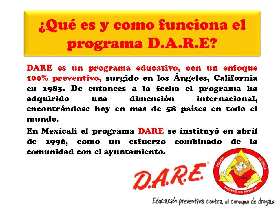 ¿Qué es y como funciona el programa D.A.R.E