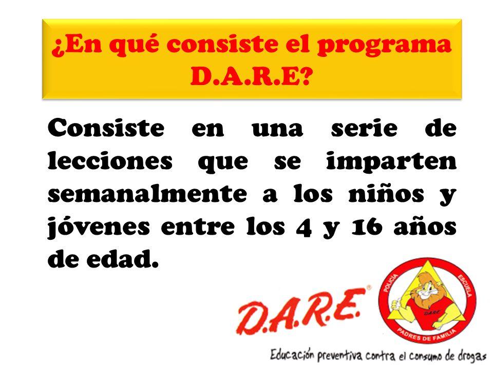 ¿En qué consiste el programa D.A.R.E