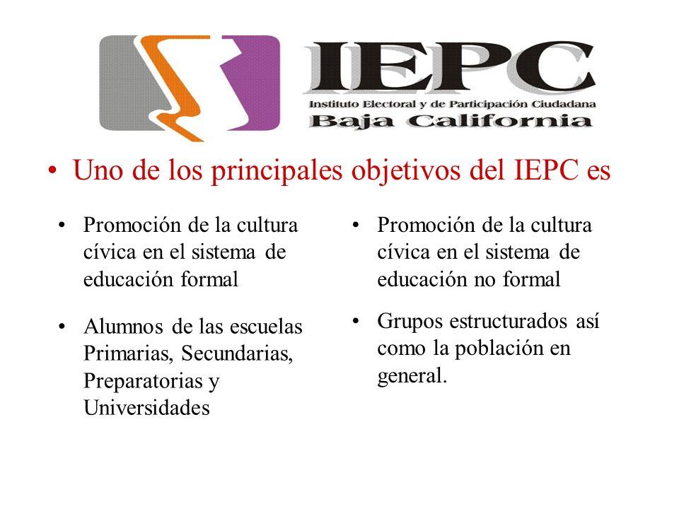 Uno de los principales objetivos del IEPC es