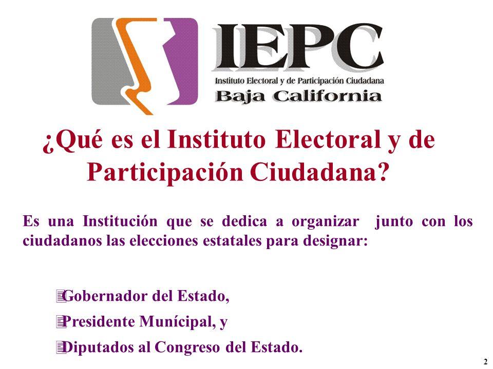 ¿Qué es el Instituto Electoral y de Participación Ciudadana