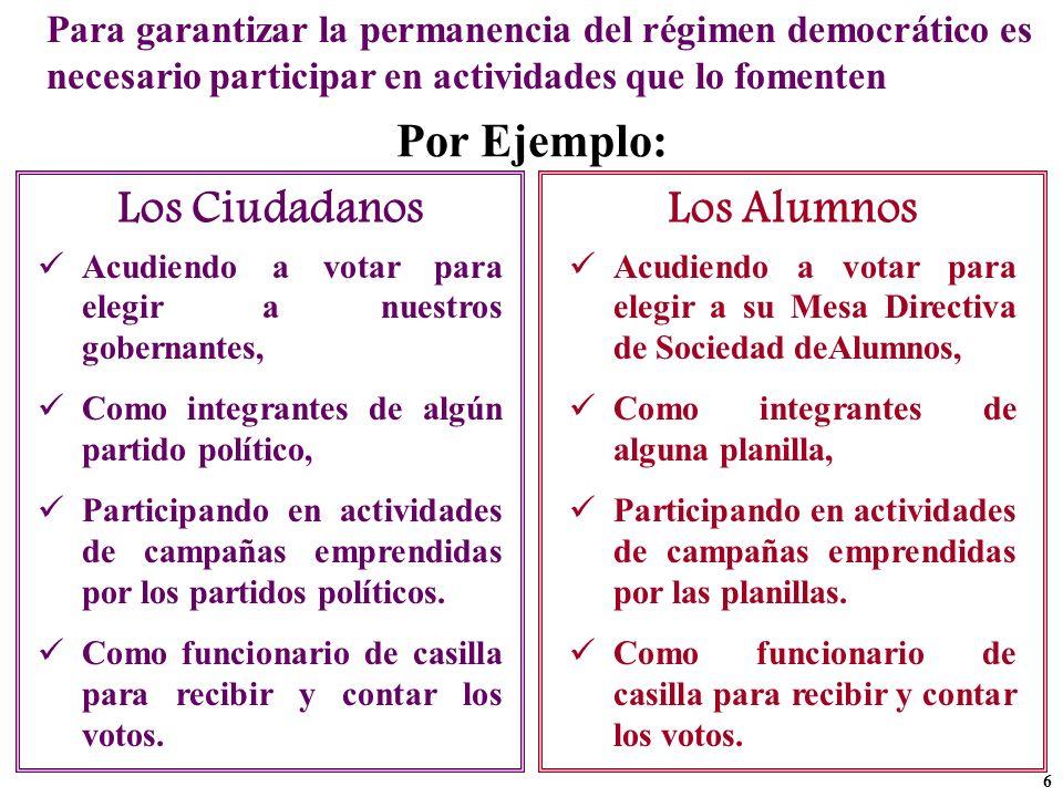 Por Ejemplo: Los Ciudadanos Los Alumnos