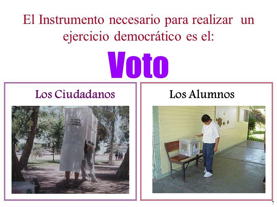 El Instrumento necesario para realizar un ejercicio democrático es el: