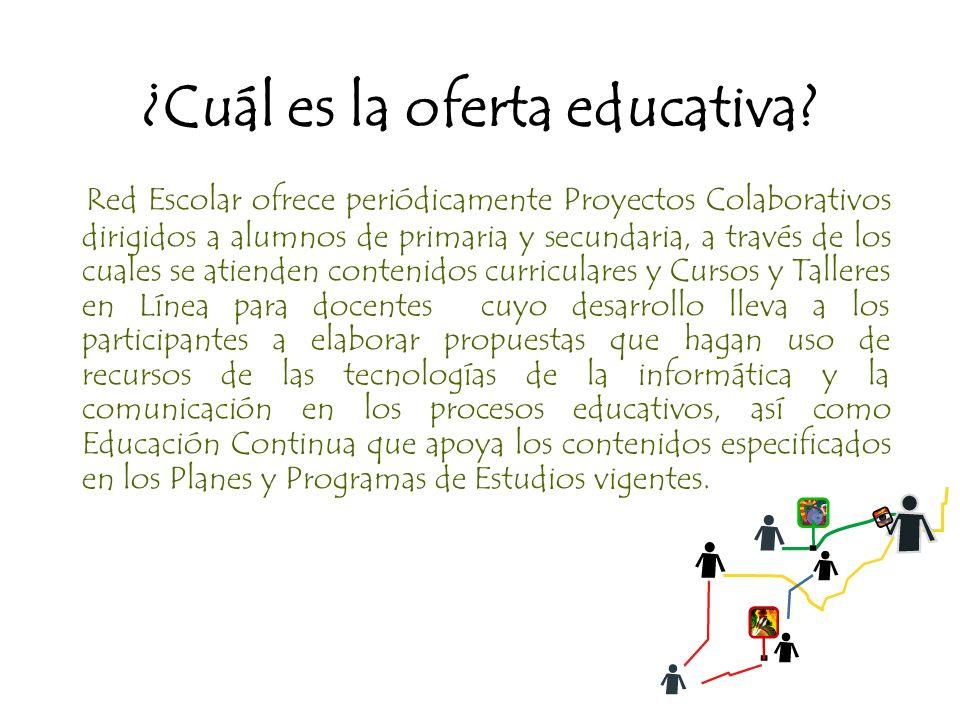 ¿Cuál es la oferta educativa