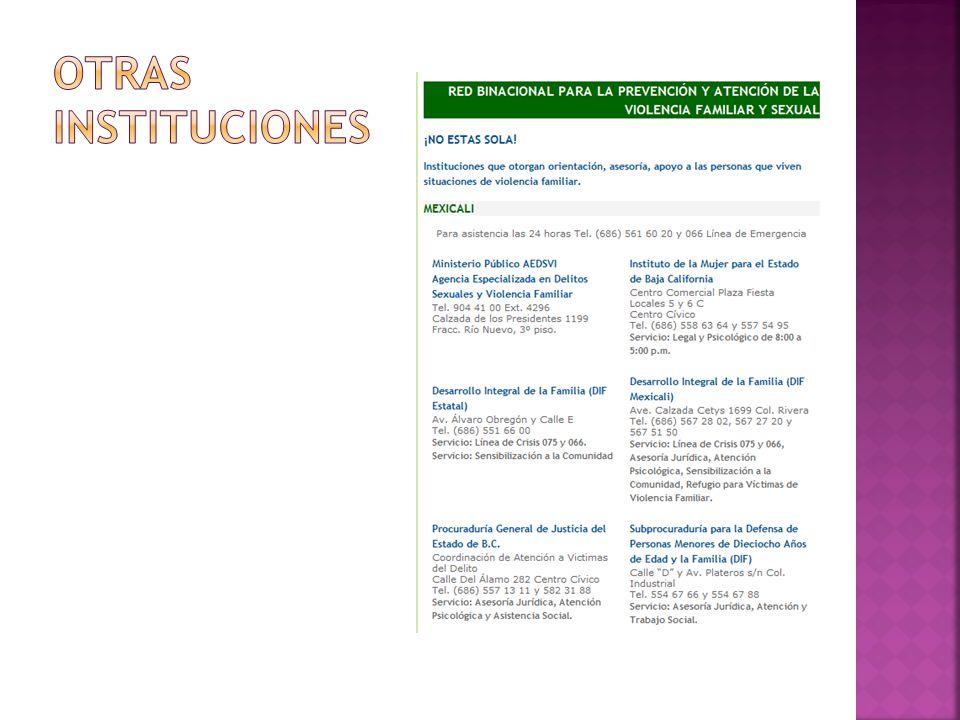 OTRAS INSTITUCIONES