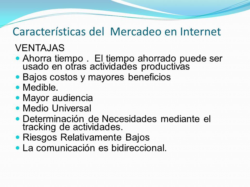 Características del Mercadeo en Internet