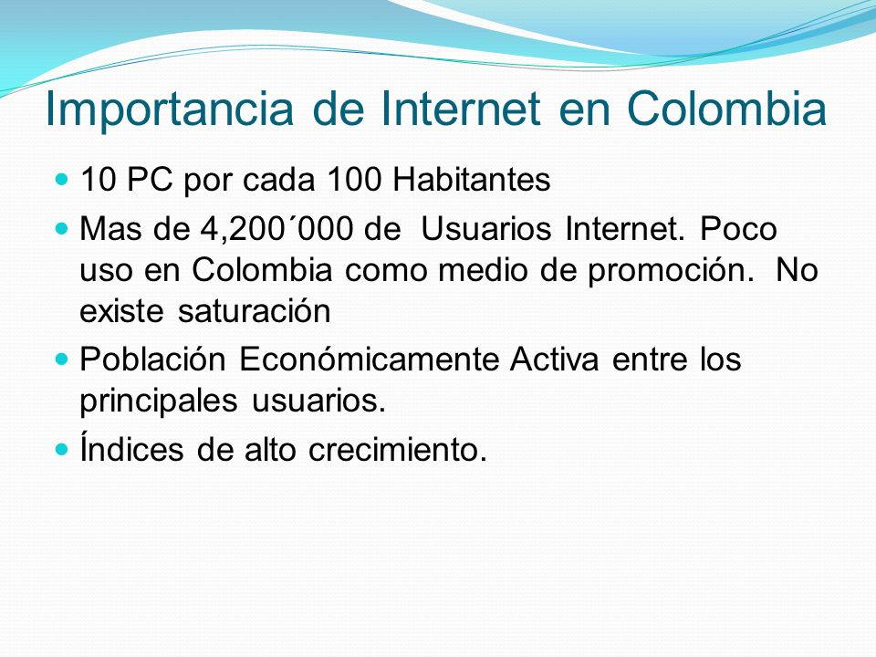 Importancia de Internet en Colombia