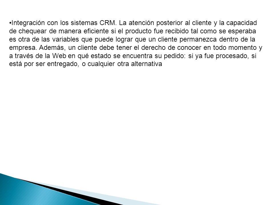 Integración con los sistemas CRM