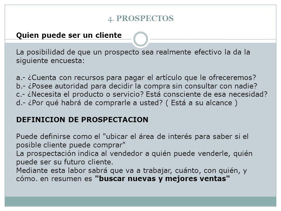 4. PROSPECTOS