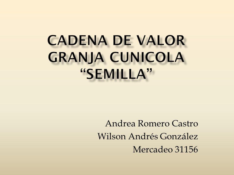 CADENA DE VALOR Granja Cunicola Semilla