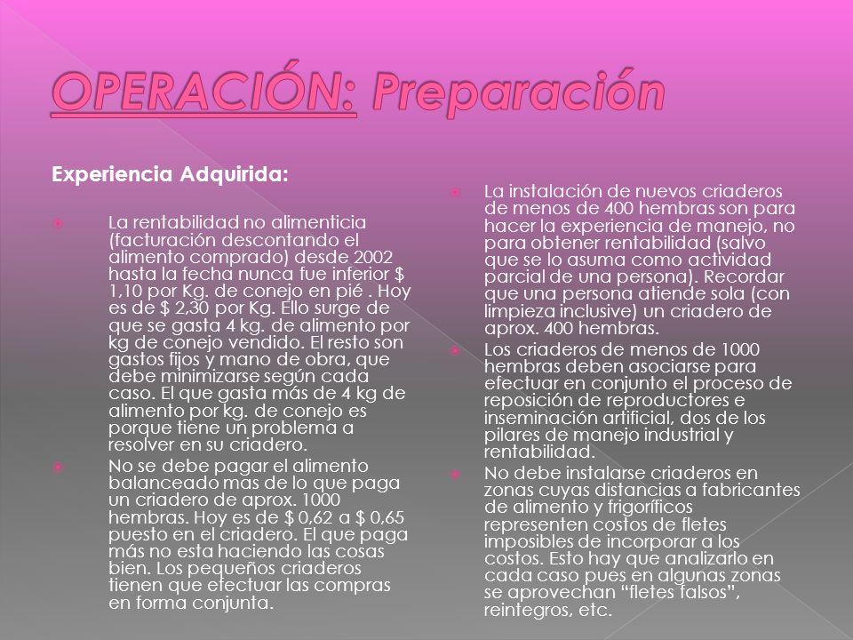 OPERACIÓN: Preparación