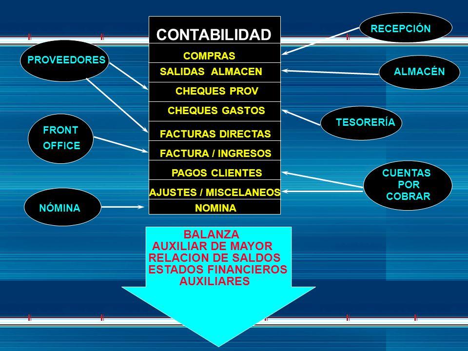 CONTABILIDAD BALANZA AUXILIAR DE MAYOR RELACION DE SALDOS