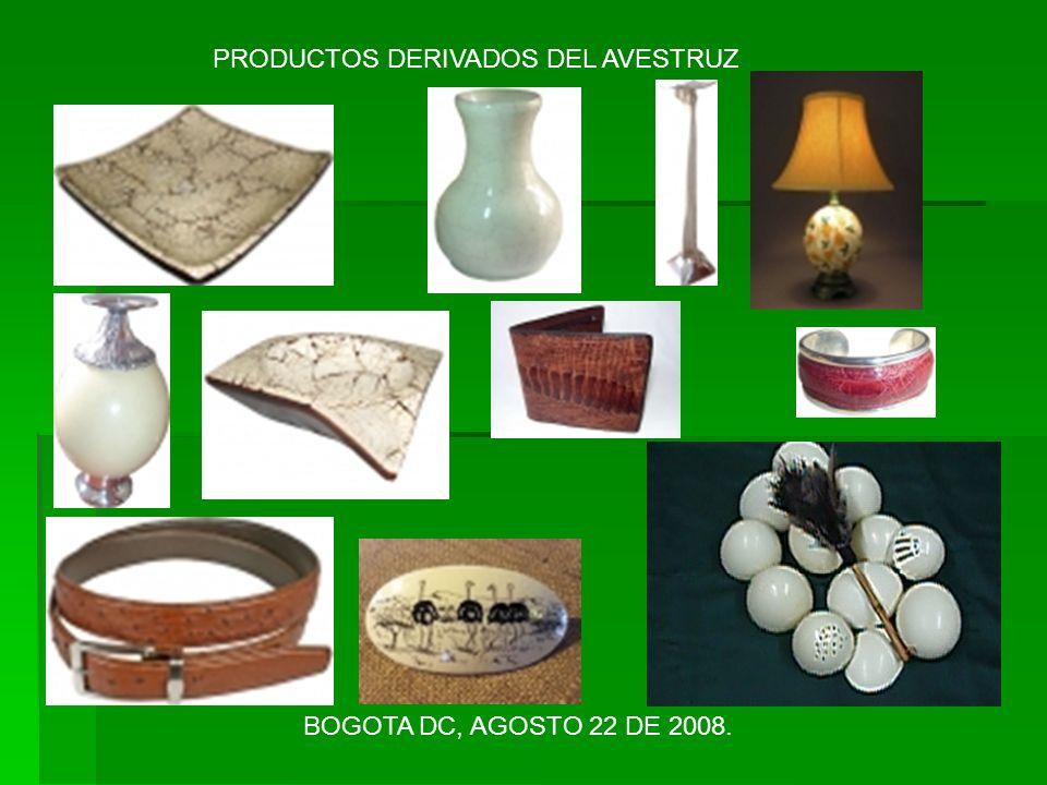 PRODUCTOS DERIVADOS DEL AVESTRUZ
