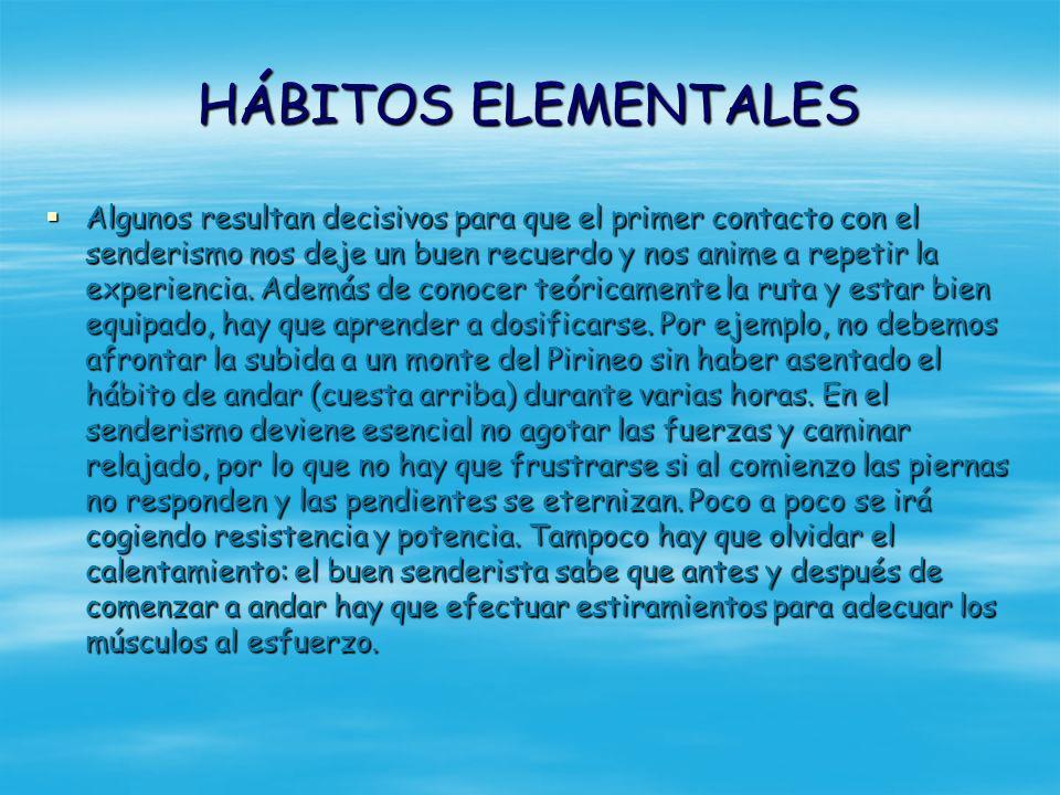 HÁBITOS ELEMENTALES