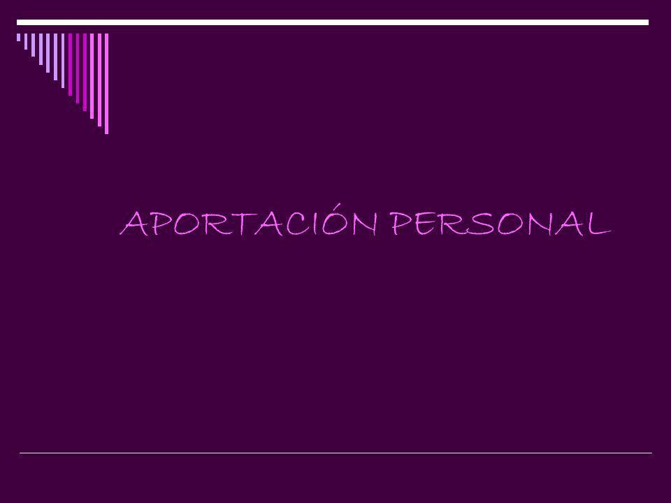 APORTACIÓN PERSONAL