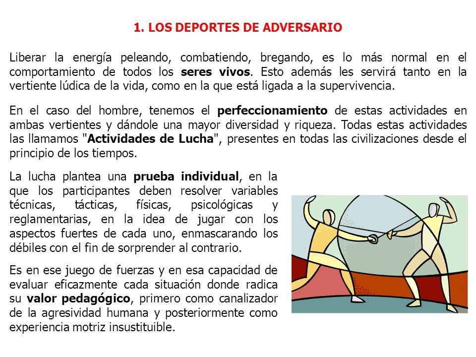 1. LOS DEPORTES DE ADVERSARIO