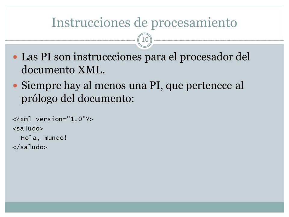 Instrucciones de procesamiento