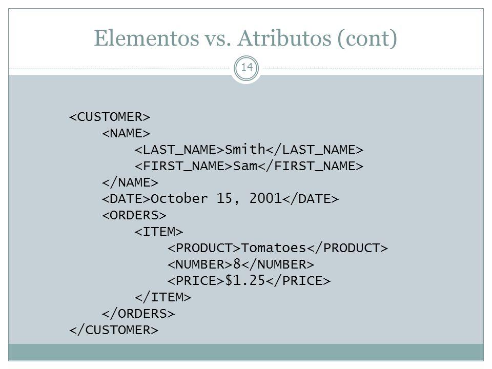 Elementos vs. Atributos (cont)