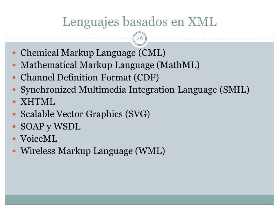 Lenguajes basados en XML