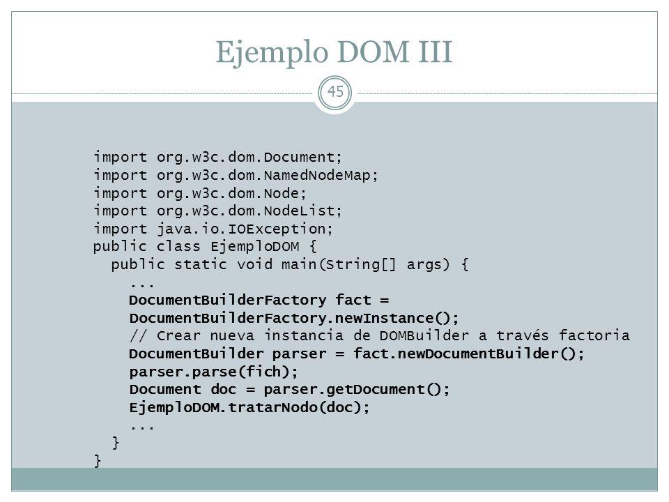 Ejemplo DOM III