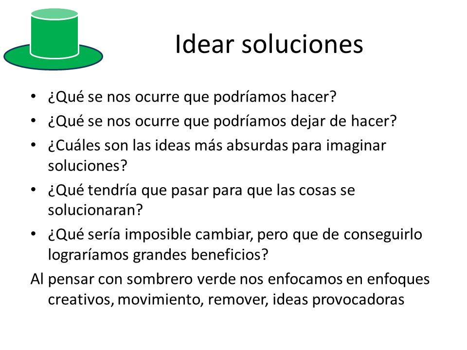 Idear soluciones ¿Qué se nos ocurre que podríamos hacer