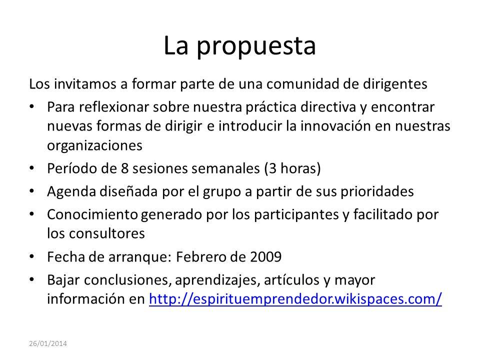 La propuestaLos invitamos a formar parte de una comunidad de dirigentes.