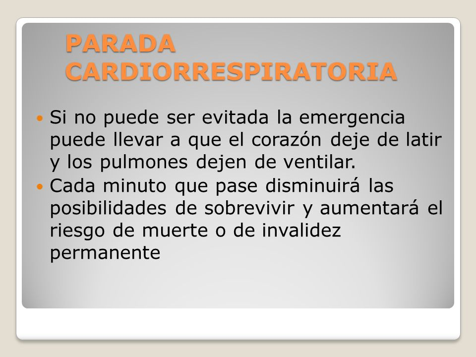 PARADA CARDIORRESPIRATORIA