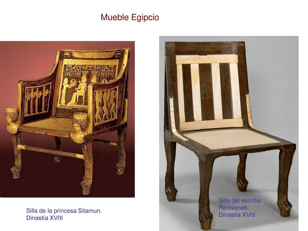 Breve Recorrido Historico Del Mueble Europeo Ppt Descargar # Muebles Egipcios