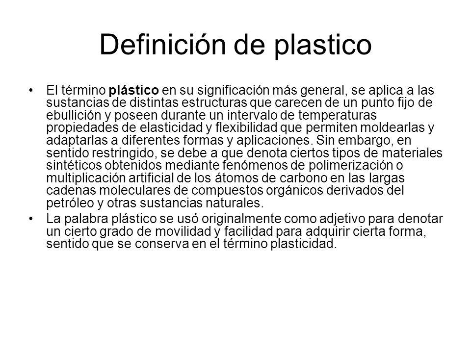 Definición de plastico
