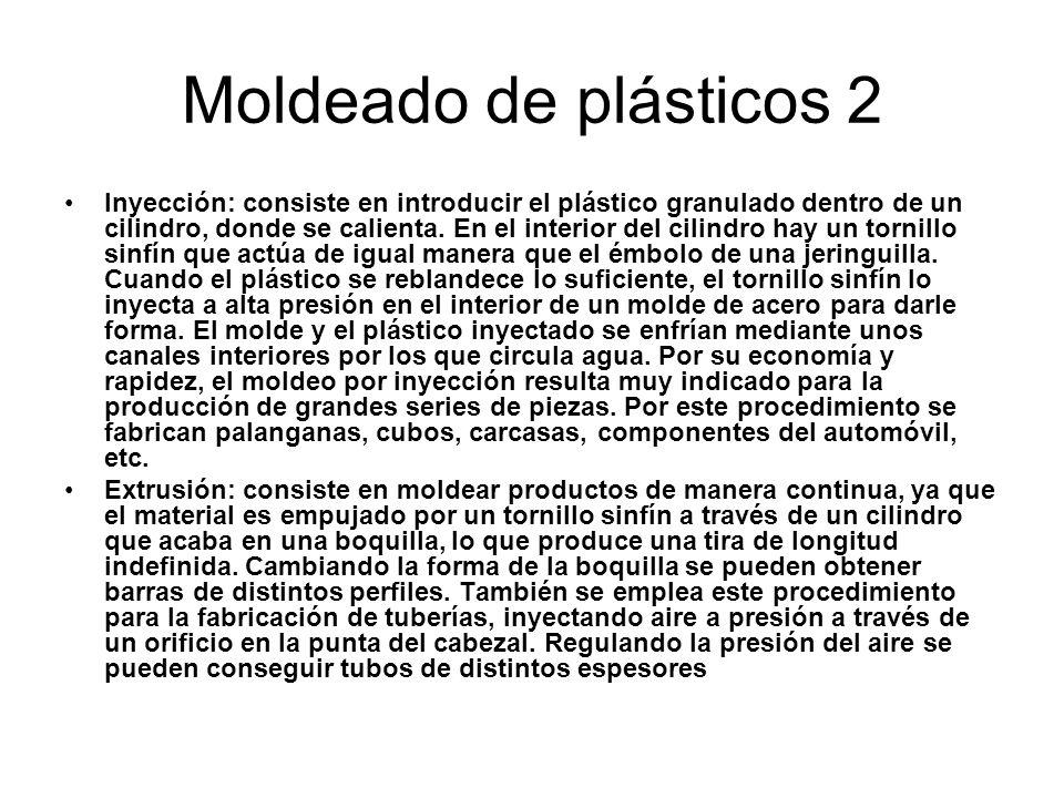Moldeado de plásticos 2