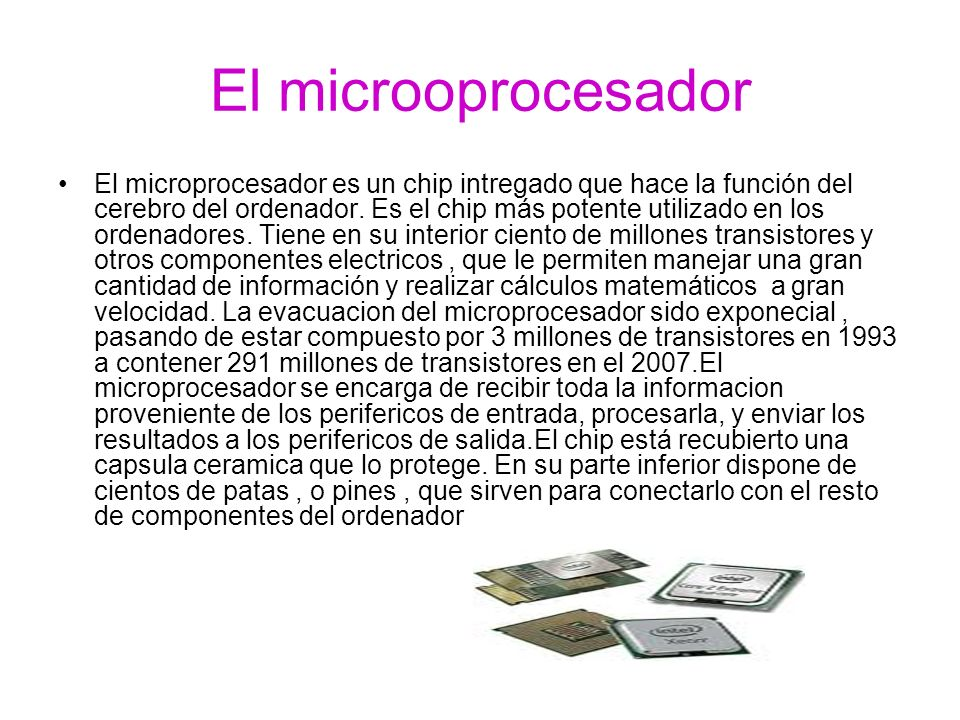 El microoprocesador