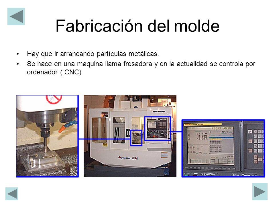Fabricación del molde Hay que ir arrancando partículas metálicas.