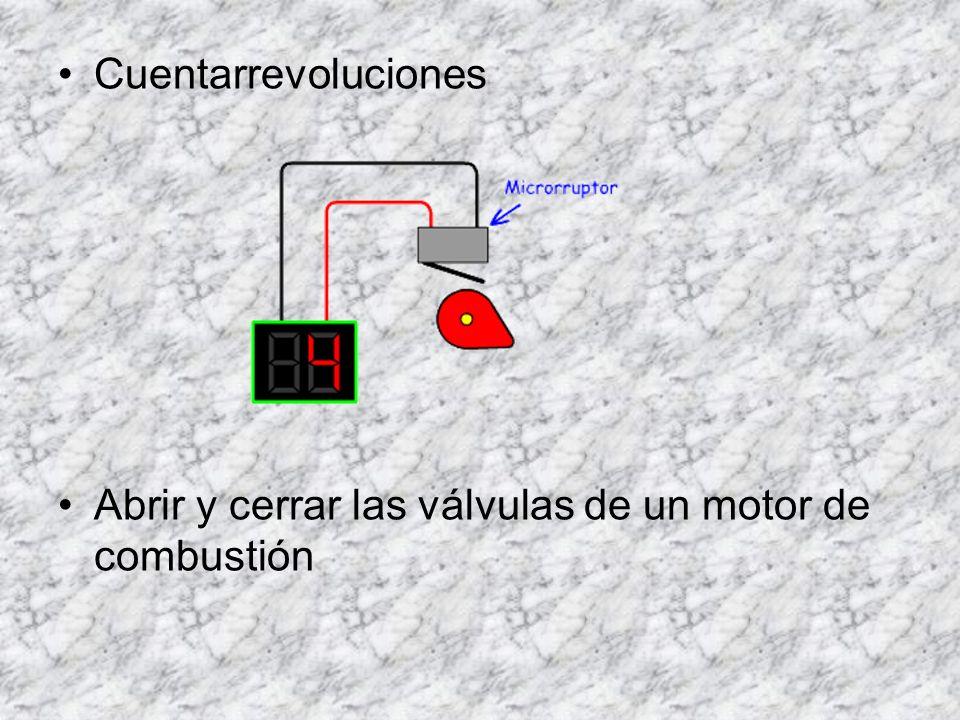 Cuentarrevoluciones Abrir y cerrar las válvulas de un motor de combustión