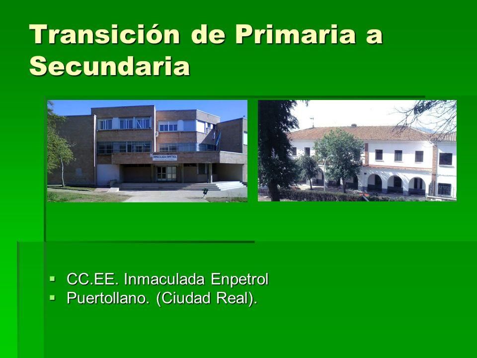 Transición de Primaria a Secundaria