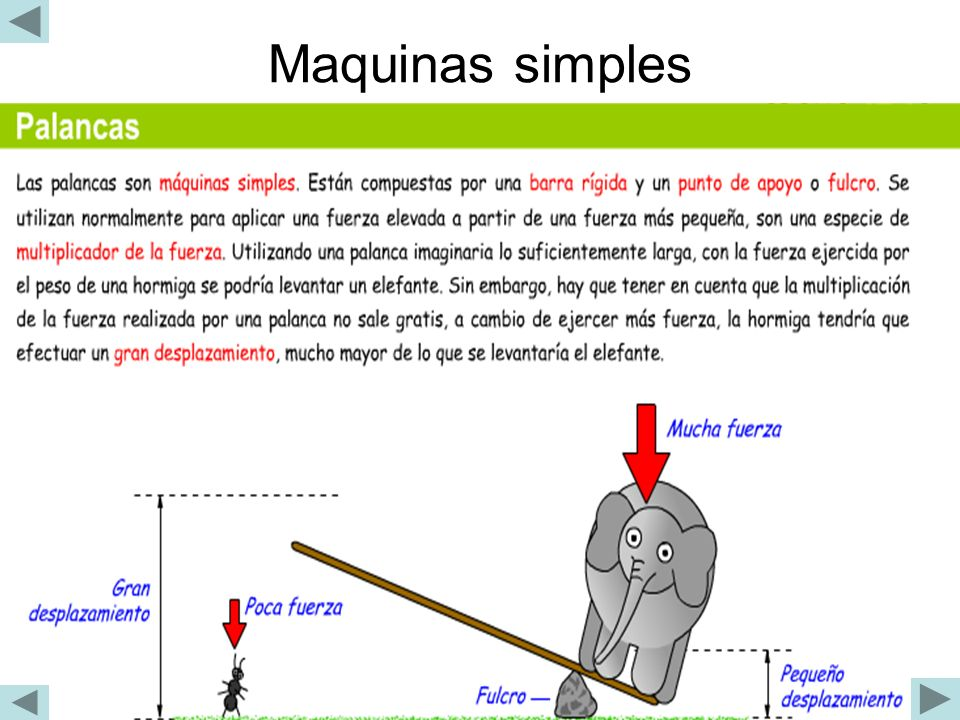 Maquinas simples