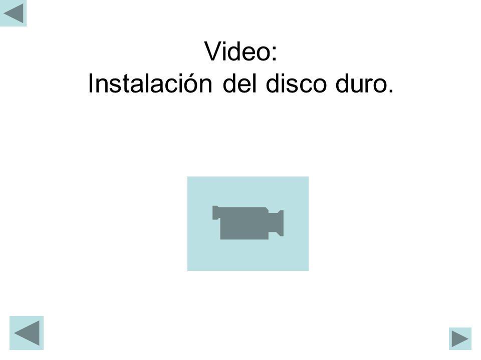 Video: Instalación del disco duro.