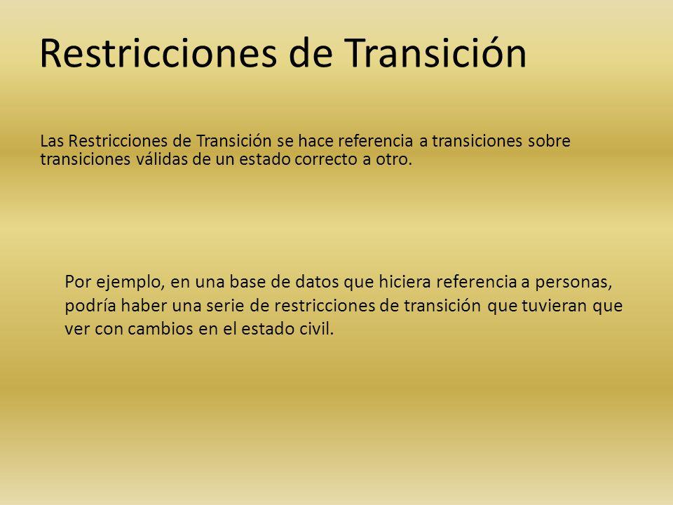 Restricciones de Transición