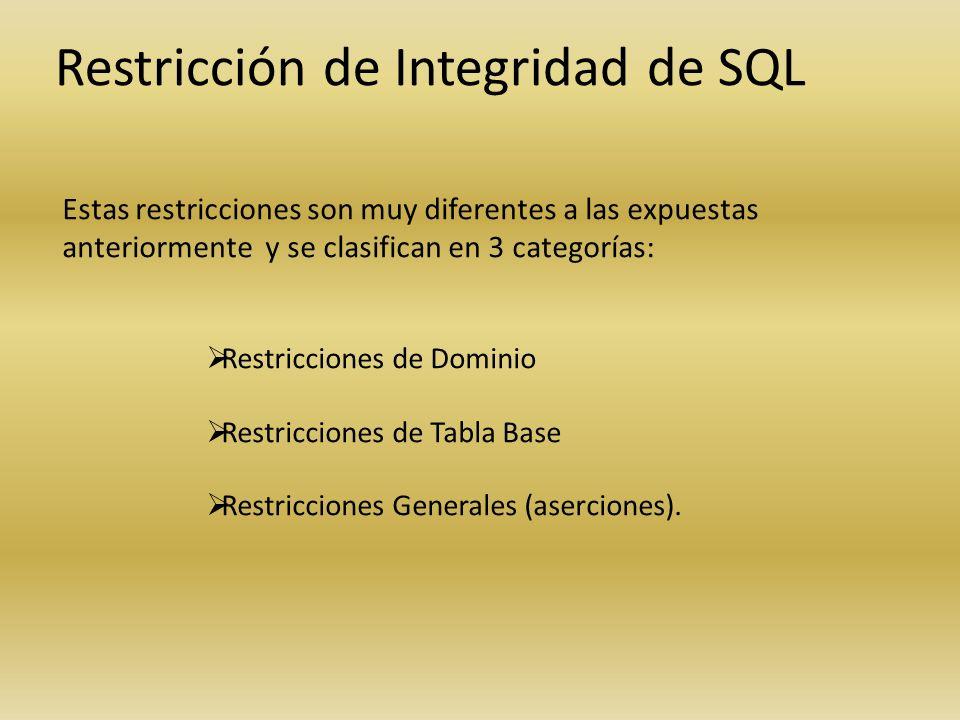 Restricción de Integridad de SQL