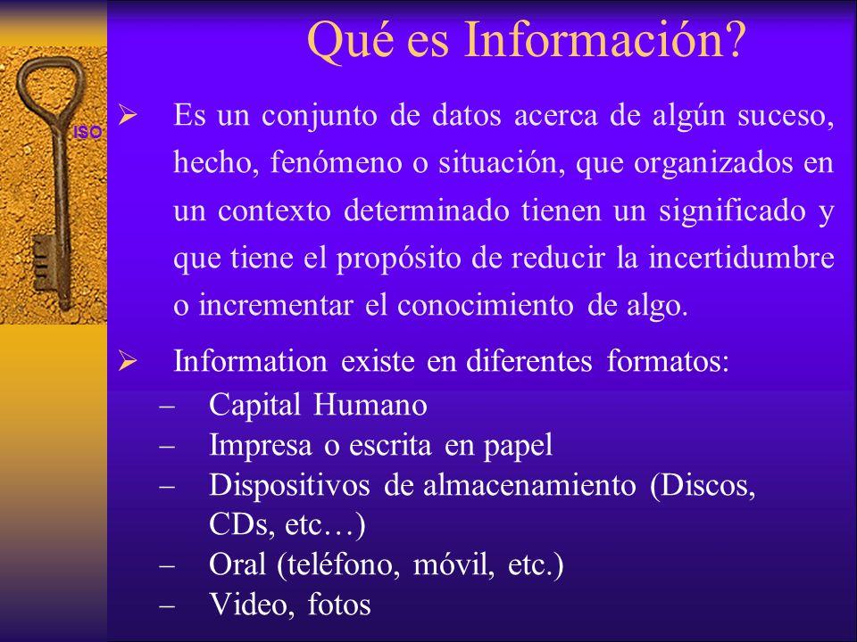 Qué es Información