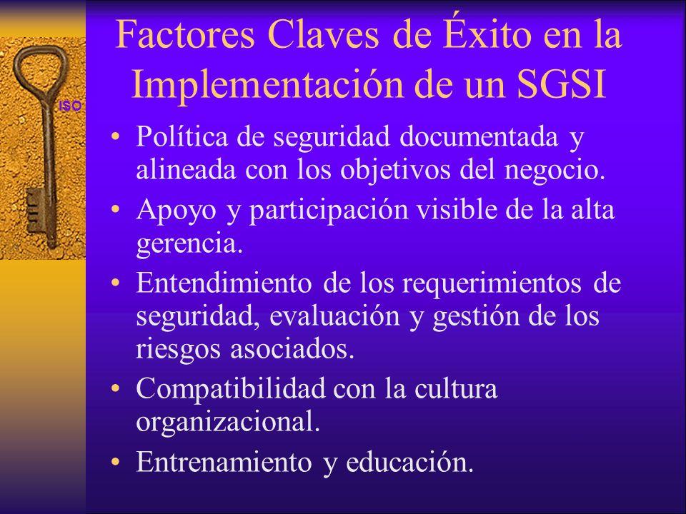 Factores Claves de Éxito en la Implementación de un SGSI