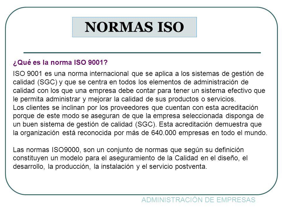 NORMAS ISO ¿Qué es la norma ISO 9001