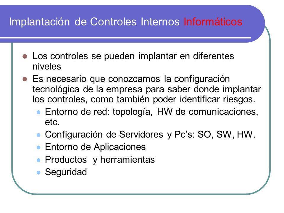 Implantación de Controles Internos Informáticos