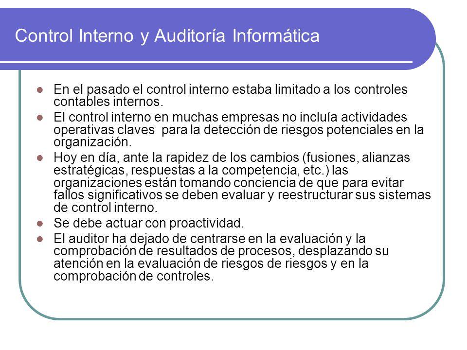 Control Interno y Auditoría Informática